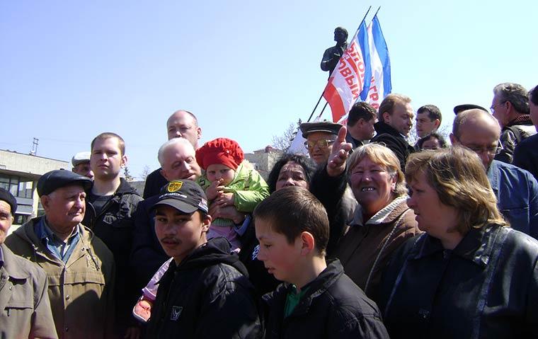 Лидер Блока Грача «За новый Крым» среди участников Всекрымского вече