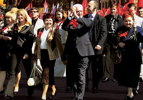 ... стремлении Леонида Грача объединить вокруг себя все левые силы для сохранения и отстаивания прав и свобод граждан Украины
